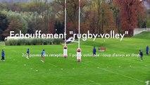 Echauffement rugby-volley