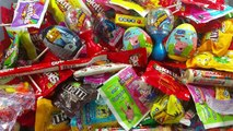 A lot of New Candy with New Surprise Eggs ft Peppa Pig Disney Princess Star Wars