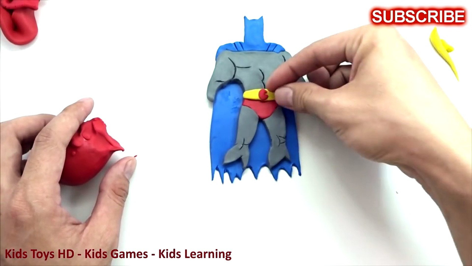 Batman Vs Superman Play Doh How To Make Super Heroes With Play Doh Part 2 Dailymotion Video