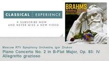 Johannes Brahms : Piano Concerto No. 2 in B-Flat Major, Op. 83: IV. Allegretto grazioso