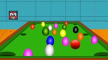 Learn Colors with Snookers Game | Colors to Learn Simple | Snooker Balls Colors for Kids