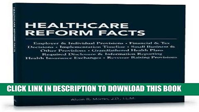 MOBI Healthcare Reform Facts: Employer   Individual Provisions, Financial   Tax Decisions,