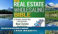 READ  The Real Estate Wholesaling Bible: The Fastest, Easiest Way to Get Started in Real Estate