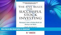 READ  The Five Rules for Successful Stock Investing: Morningstar s Guide to Building Wealth and