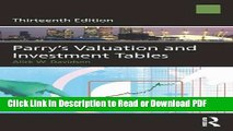 Download Parry s Valuation and Investment Tables Book Online