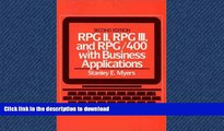EBOOK ONLINE  RPG II, RPG III, and RPG/400 with Business Applications (2nd Edition)  GET PDF