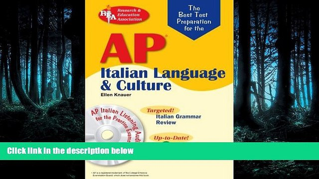 READ book  AP Italian Language and Culture w/ Audio CDs (Advanced Placement (AP) Test