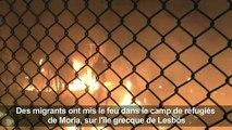 Incidents dans un camp de migrants à Lesbos après deux morts