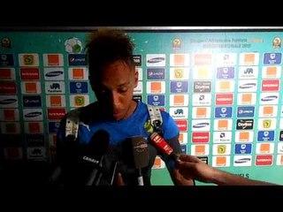 CAN2015  Réactions Aubameyang après élimination du Gabon
