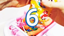 Baby Doll Candy Bath Time Learn Colors Learn to Count | M&Ms & Skittles Learning Video