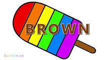 Learn Colors with Rainbow Popsicle Ice Cream Coloring Pages (10) Educational Video for Toddlers