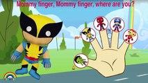 Marvel Super Hero Hulk Spiderman Finger Family Songs - Daddy Finger Family Nursery Rhymes Lyrics