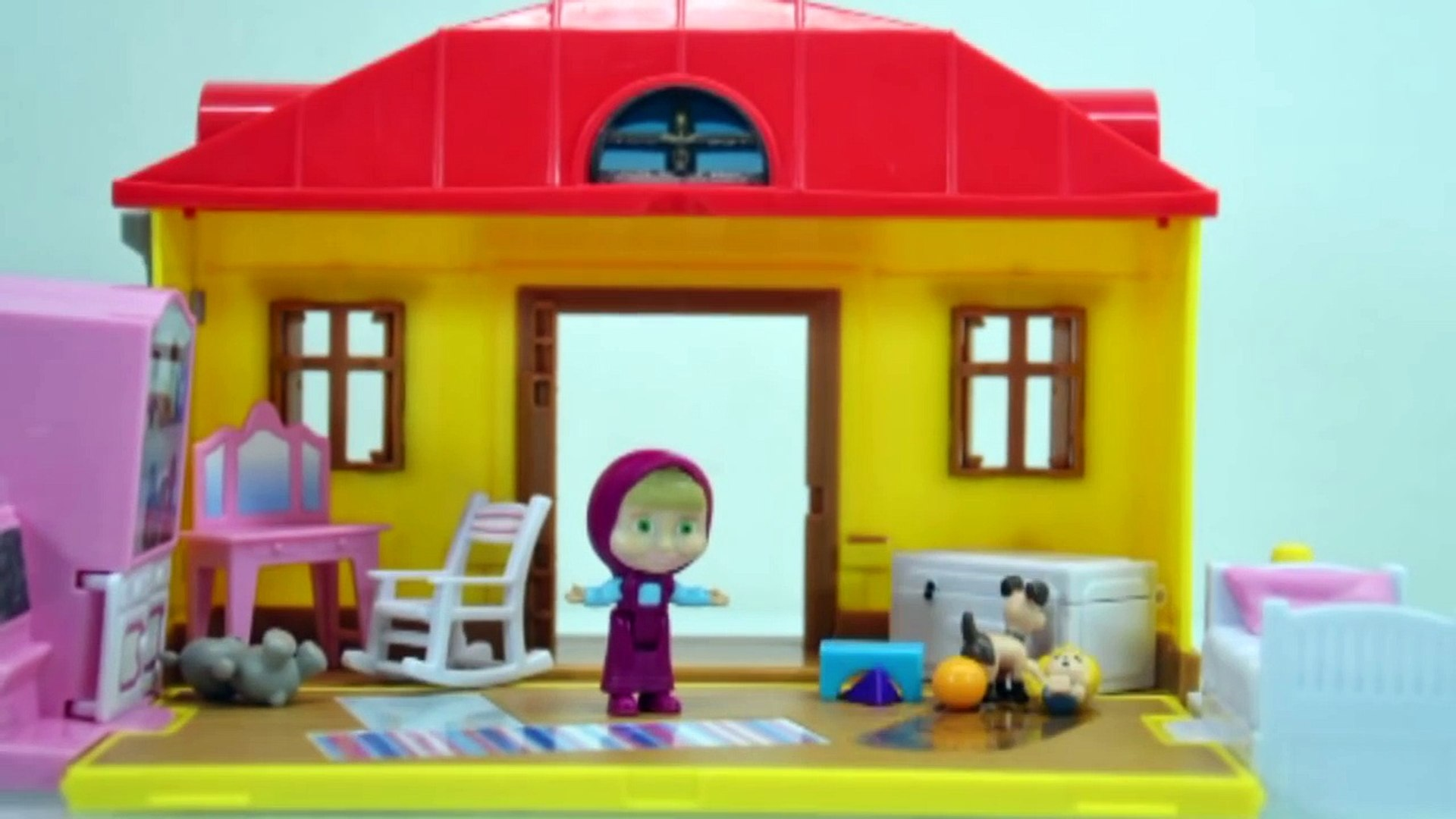 Masha and The Bear Toys stop motion Episode 1 - Супер Маша и собака