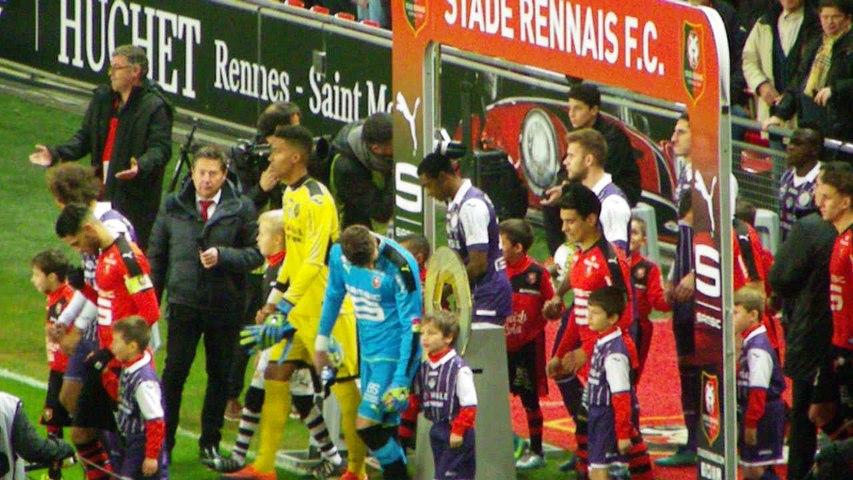 25/11/16 : SRFC-TFC : entrée des équipes