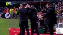 Pascal Dupraz (Toulouse Coach) Head Hit by a Fan with a bottle of wate