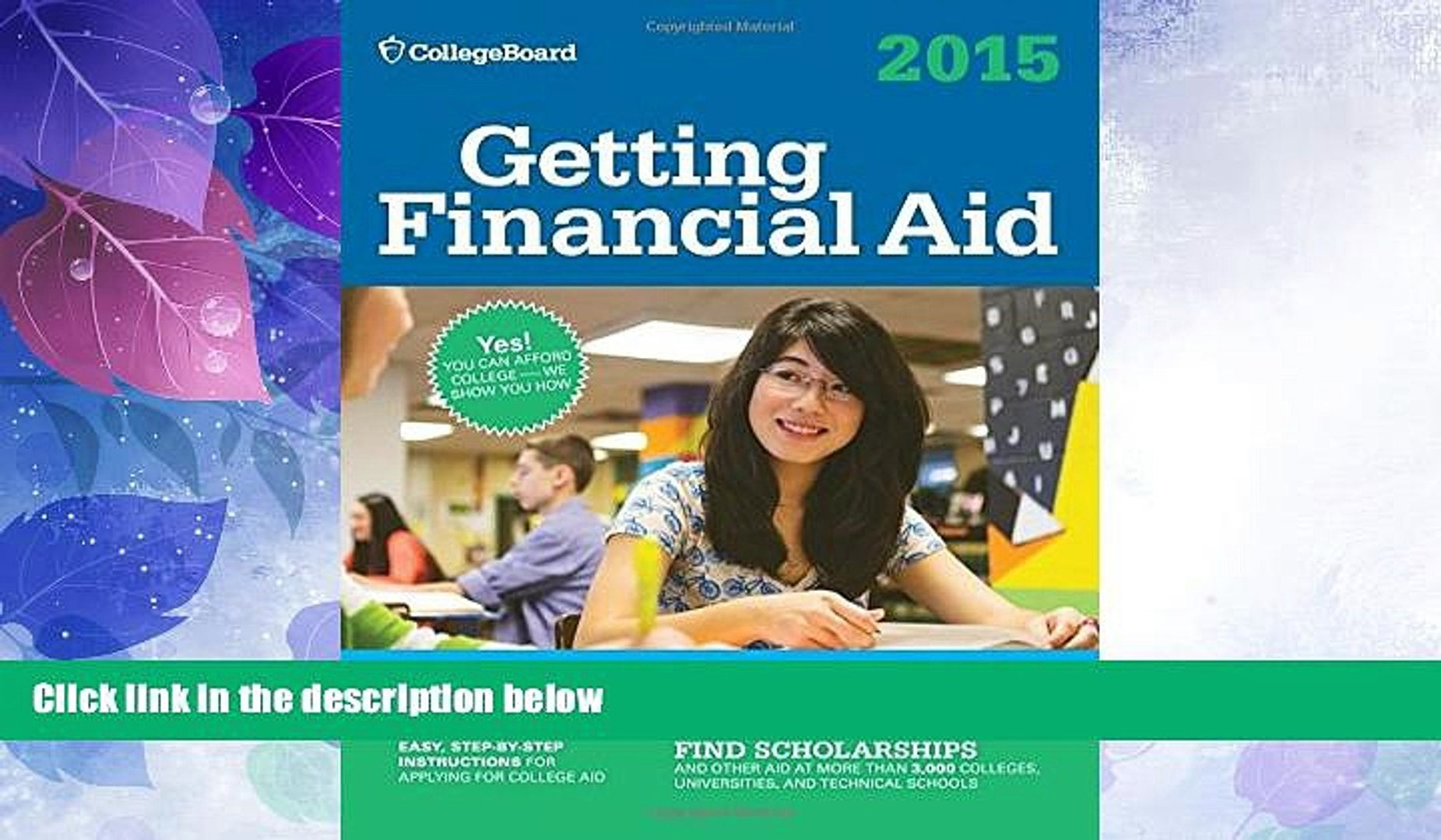 Price Getting Financial Aid 2015 (College Board Guide to Getting Financial Aid) The College Board