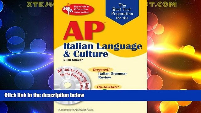 Best Price AP Italian Language and Culture w/ Audio CDs (Advanced Placement (AP) Test Preparation)