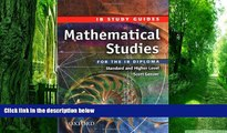 Pre Order Mathematical Studies for the IB Diploma: Study Guide (International Baccalaureate)