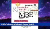 Buy Steven L. Emanuel Strategies   Tactics for the MBE, Fifth Edition (Emanuel Bar Review)
