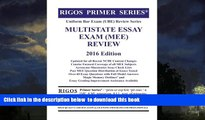 Best Price Mr. James J. Rigos Rigos Primer Series Uniform Bar Exam (UBE) Review Series Multistate