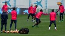 FC Barcelona training session: Final workout before San Sebastian trip