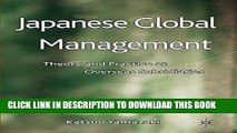 EPUB DOWNLOAD Japanese Global Management: Theory and Practice at Overseas Subsidiaries PDF Ebook