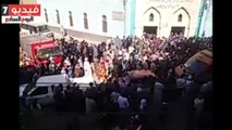 الآلاف يشيعون جثمان الشهيد حسام حسن ببنى سويف