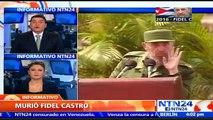 Cuba declara nueve días de luto por muerte de Fidel Castro y sus cenizas recorrerán la isla