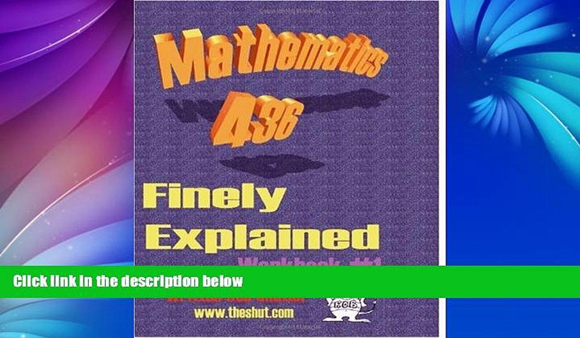 Audiobook Mathematics 436: Finely Explained:Workbook #1 (No. 1) Robert Shutler On CD
