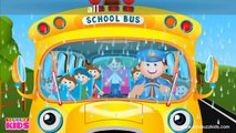 Wheels on the Bus Go Round and Round Rhyme with Lyrics - English Nursery Rhymes for Children