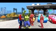 Nursery Rhymes Songs + Spiderman vs The Avengers vs Hulk & Disney Pixar Lightning McQueen Cars