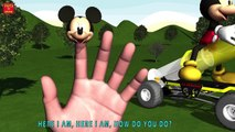 MICKEY MOUSE RIDE MICKEY MOUSE SYRINGE CAR Finger Family & MORE | Nursery Rhymes In 3D Animation