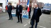 Manifestation nationaliste anti-migrants à Péronne