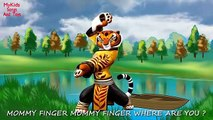 237 FINGER FAMILY NURSERY RHYMES DADDY FINGER SONG KUNG FU PANDA Po Tigress Master Shifu Viper