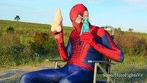 Superhero in Real Life Spiderman Elsa Frozen Irl In Real Life Super Hero Fights Vs