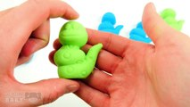 Learn Colors w/ Caterpillar Play Doh Moon Sand Blue & Green - Fun & Creative Modelling for Kids