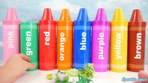Learn Colours with Pencil Mashems Surprises And Toys to Learn Colors with Crayons Sorting Surprises