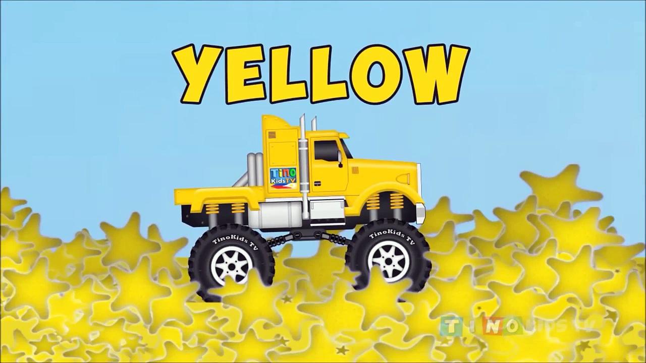 Learning Colors Compilation Truck Colours for Kids Monster Trucks, Trailer Trucks,Dump Trucks#Tino