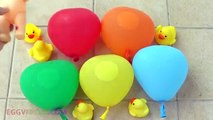 5 Apple Color Balloons Learn Colors Collection TOP Finger Family Nursery Rhymes w/ Baby Doll & Duck