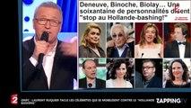 """ONPC : Laurent Ruquier tacle les célébrités qui se mobilisent contre le """"Hollande bashing"""" (Vidéo)"""