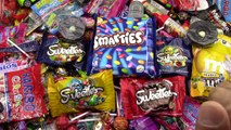 A lot of New Candy - Learn Colors with M&Ms Smarties Sweeties Haribo