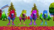 Colors Elephant Vs Spiderman Dinosaurs Finger Family | Colors Dinosaurs Nursery Rhymes For Children