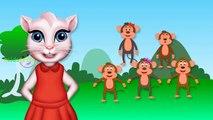 Finger Family Monkeys   The Finger Family Rhymes   Tom Cat 3D Rhymes for Children