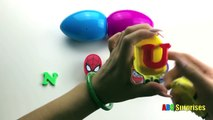 ABC Surprises Learn to count numbers spell numbers chocolate surprise egg toy Avengers Iron Man