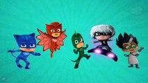 PJ Masks Rap Finger Family Hip Hop Kids Song | Nursery Rhyme Hip Hop Song