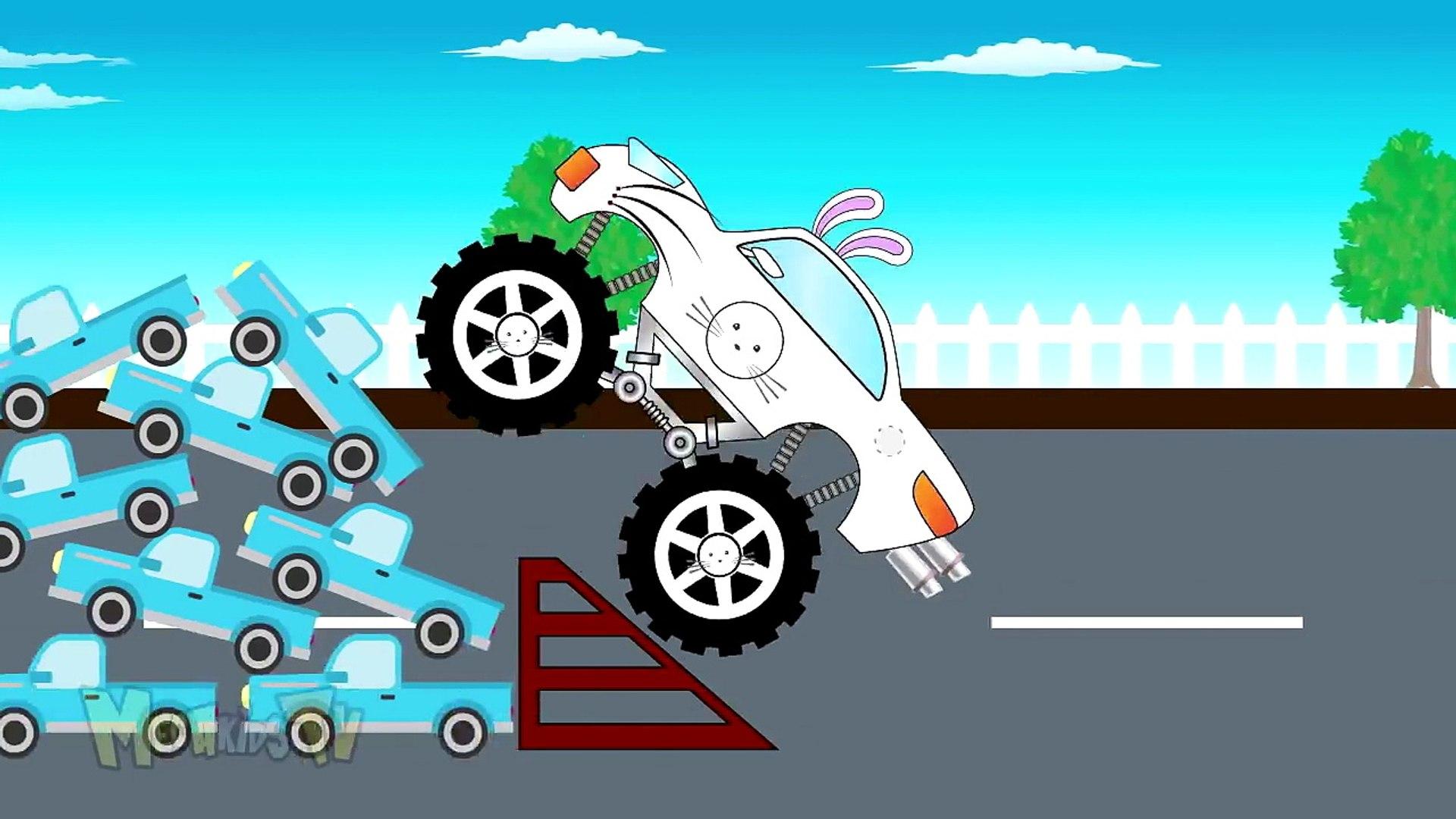 Rabbit Truck - Monster Trucks For Kids - Mega Kids Tv