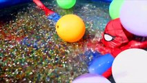 Spiderman in Real Life vs Balloons in a Pool Full of Orbeez - Superhero in Real Life