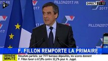 Primaire de la droite : le discours de François Fillon, vainqueur de la primaire