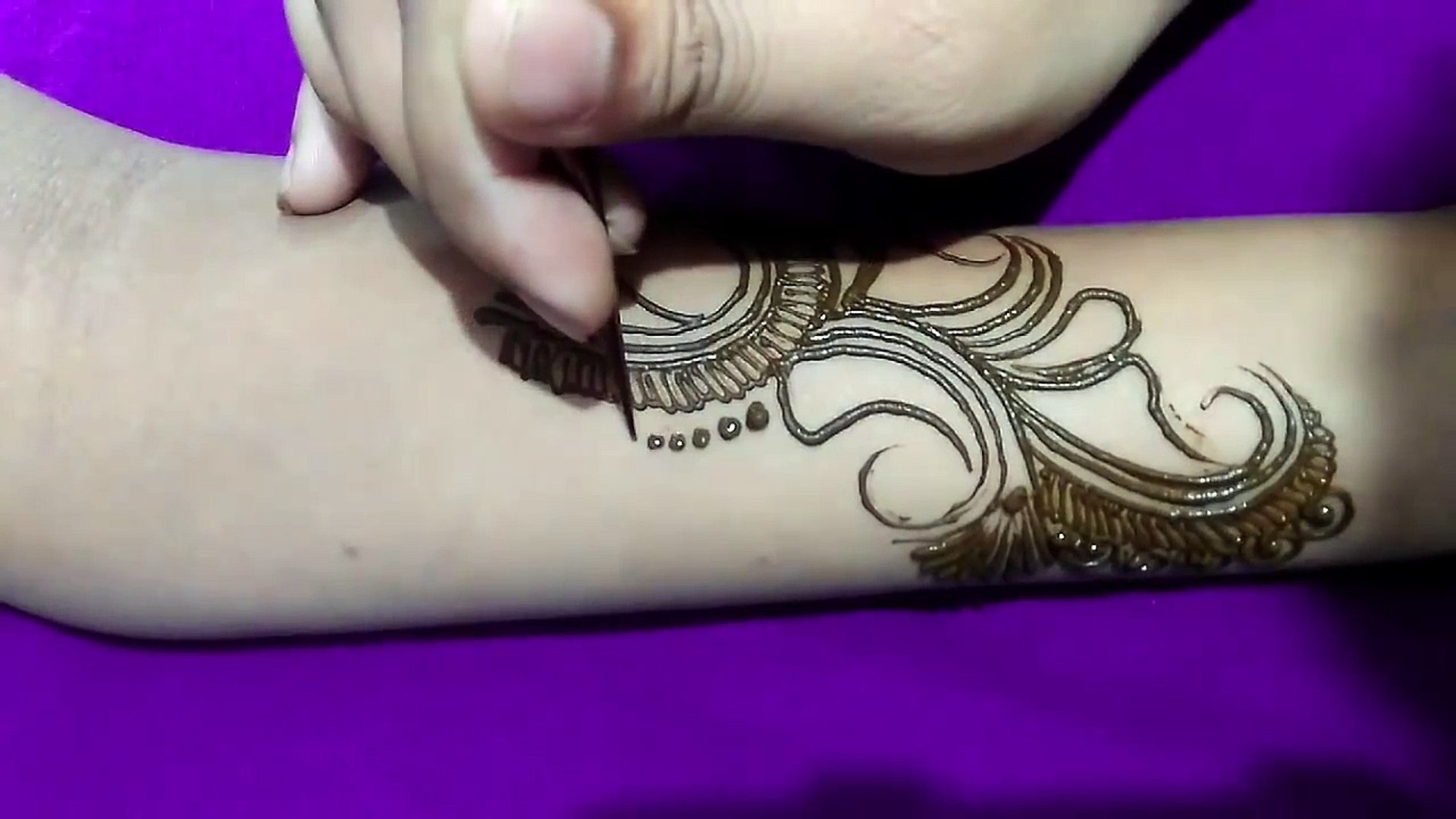 New Modern Style Indo Arabic Mehndi Design 3 Step By Step
