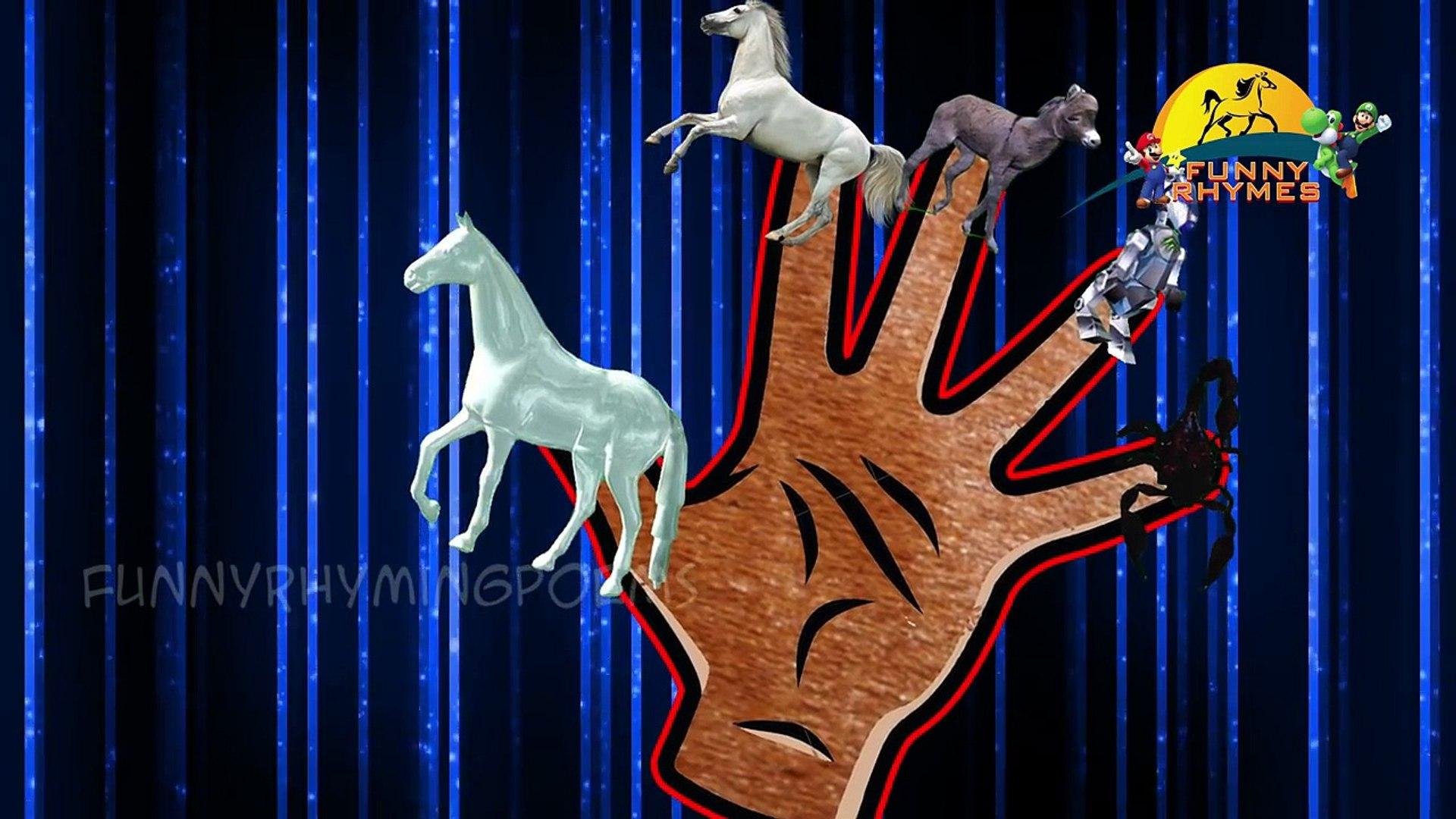 Horse 3d Finger Family nursery children kids education rhyme with lyrics